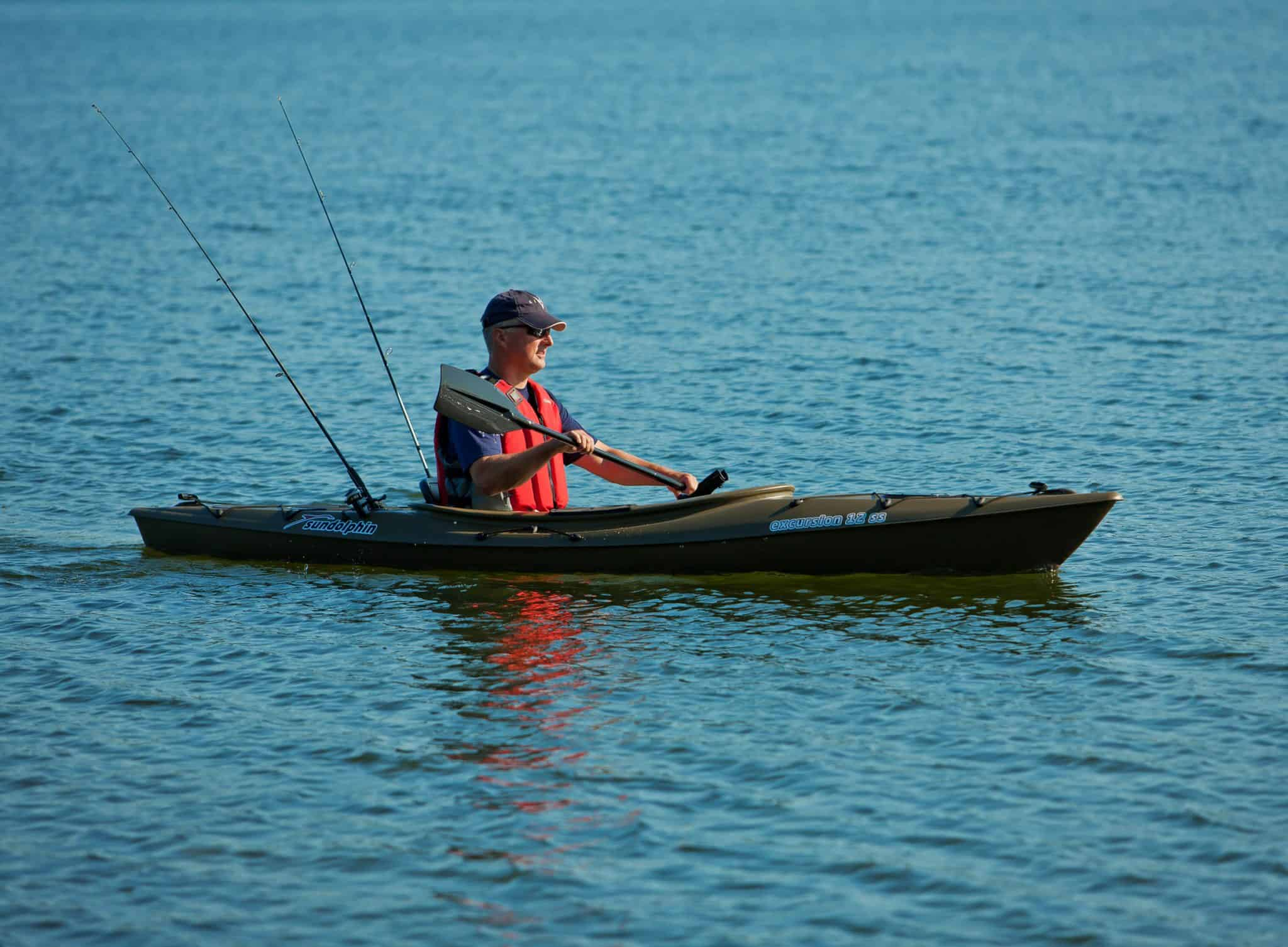 Sun Dolphin Aruba 12 SS Sit-In Fishing Kayak is Super Fun