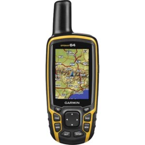 """Garmin GPSMAP 64 Handheld GPS with GLONASS Receiver Rugged, Waterproof and High Sensitivity GPS with GLONASS Receiver The Garmin GPSMAP 64 is a tough little piece of kit with easily readable graphics and the ability to upload topographic maps all around the world. With an aptly sized 2.6"""" colour display, the sunlight readable screen gives you clear images in the brightest or wettest of days. The dual battery is a must for anyone who wants to spend more than a few days out in the sticks and gives one less excuse for die hard map and compass folk. Weighing just 7.6 oz or 215 grams, you get a powerful and lightweight handheld GPS in a toughened waterproof casing. The GPSMAP 64 comes with a pre-installed worldwide base map with easy to read terrain and shaded relief so you can navigate through the lanscape before you get there. You also get over 250,000 world wide geocaches, pre-loaded onto the device sourced directly from Geocaching.com with access to all the user photographs. This is great news for geocaching users as the website has one of the biggest and best databases of geocaches on the inter web. Wherever you go in the world, you will have instant access to local topographic maps as well as points of interest listed on the geocache. If the pre-loaded maps weren't enough for you then adding new map data is easy with multiple, topographic, marine and road maps with precise detail. The 4GB internal memory can be expanded using a microSD card in the slot under the battery so you can download 24k and 100K TOPO maps. The microSD card reader supports BlueChart® G2 and City Navigator NT® pre-loaded charts and map data memory cards. The Garmin GPSMAP 64 works hand in hand with BirdsEye Satellite Imagery (subscription needed) which allows you to install satellite imagery onto your device and integrate it with your existing maps. In addition, the 64 is compatible with Custom Maps, a map format that allows you to transform paper and electronic maps easily into downloadable m"""