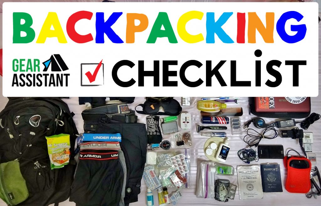 Backpacking Checklist Essentials Gear Assistant